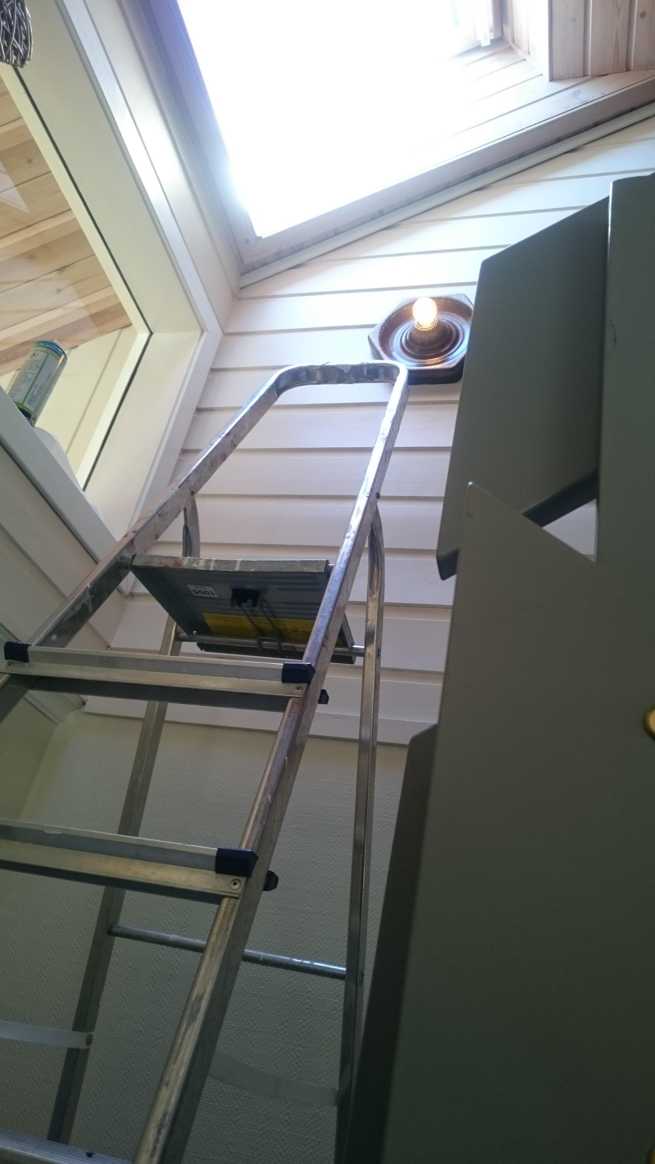 Litt balansering i gardintrapp måtte til.