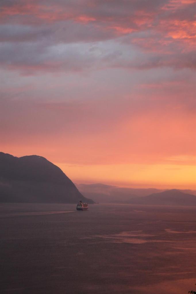 Solnedgang i Storfjorden <3